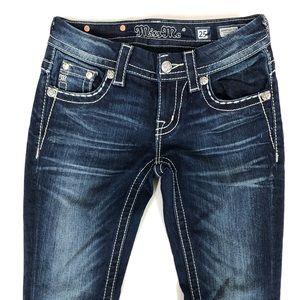 Miss Me Slim Boot Signature Rise Jeans Sz 25